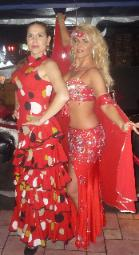 Flamenco Dancer Paloma and Belly Dancer Marianna