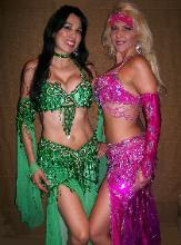 Green and Fucia Bella Belly dance costume - Marianna - Violeta