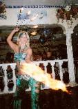 Marianna with fire fans - fire dancer